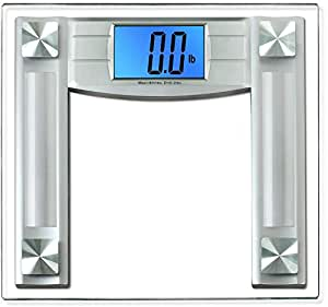 "BalanceFrom High Accuracy Digital Bathroom Scale with 4.3"" Large Backlight Display and Step-on Technology, Silver"