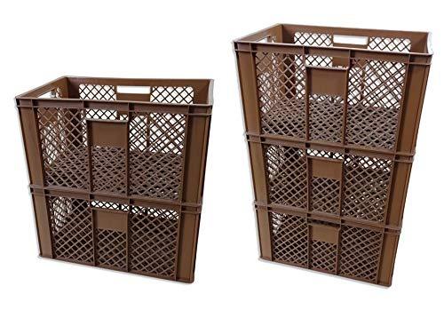 Brotkiste 5er Set B/äckerkiste Obstkiste Vorratsbox braun H/öhe 28 cm
