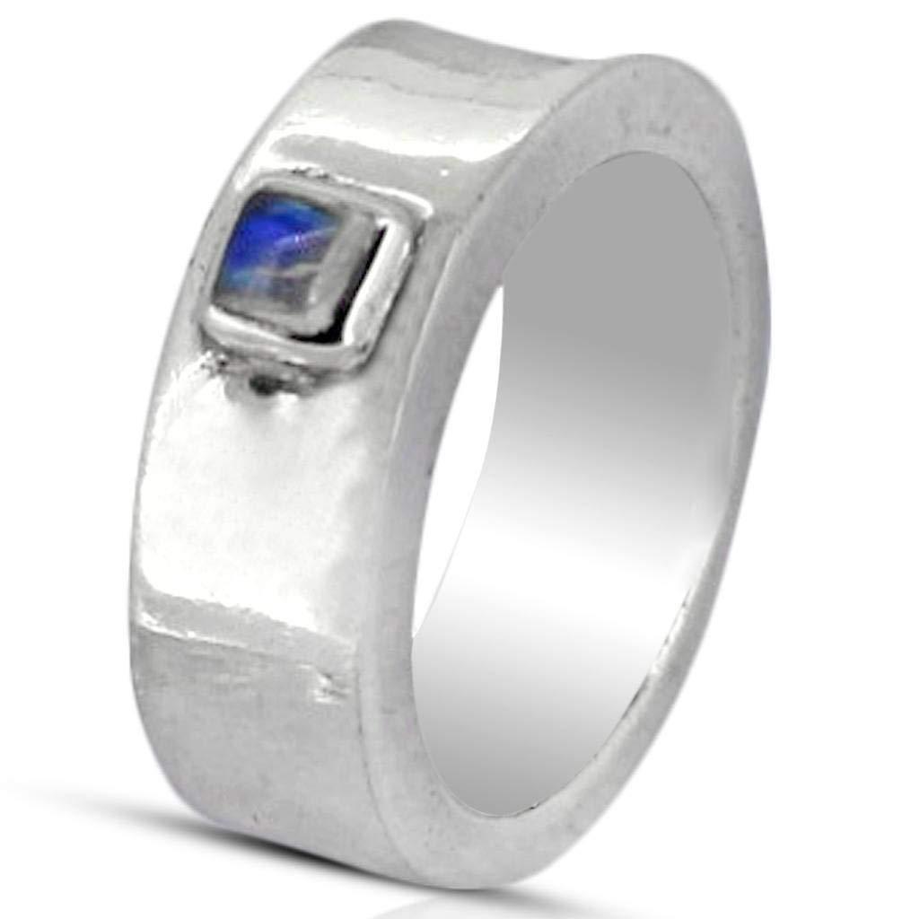 M/s Gajraj Moonstone Stone 925 Sterling Silver Ring, US-10