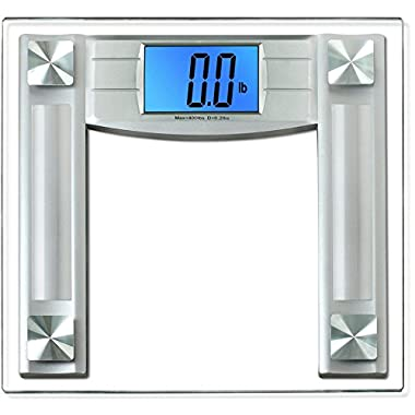 BalanceFrom High Accuracy Digital Bathroom Scale with 4.3  Large Backlight Display and Step-on Technology, Silver