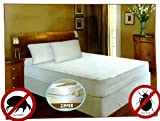 Royal Bed Bug 100% Hypoallergenic Mattress Cover With Zipper Enclosure -SOFT QUIET & COMFY. GUARANTEED TO WORK (Queen)