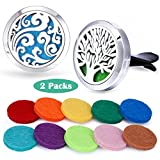 Car Fragrance Essential Oil Prume Diffuser Vent Clip Aroma Outfitters-Tree of Life & Cloud Set