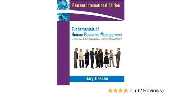 fundamentals of human resource management gary desslerfundamentals of human resource management gary dessler 9780137142811 amazon com books