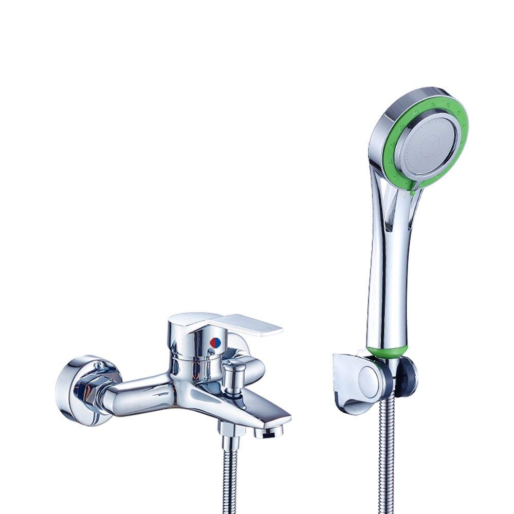 Vinteky bagno moderno cromato monocomando per vasca da bagno kit rubinetto con doccetta a parete staffa