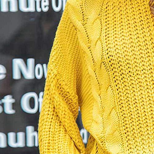 Camicia per Camicia con 1 Spalla di Lunghe Pullover a per con Camicetta Top Scollata Maniche a Donna Felpa Donne Piebo Cappuccio Giallo 0wEW8qvE