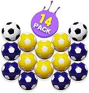 Foosball Balls – Table Foosball Replacement Balls for Foosball Tabletop Games, Multicolor Fooball Accessories,