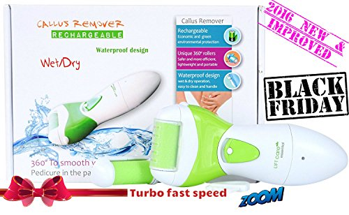 ONE DAY SALE USB Rechargeable Electric Foot Callus Remover, Waterproof, Environmental Friendly Foot File for Pedicures, Exfoliating Foot Scrubber to remove Hard Skin and Cracked Heels