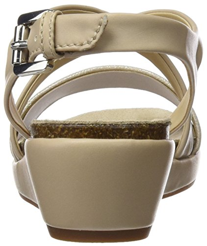 Geox Women's D Abbie a Wedge Heels Sandals Beige (Lt Taupe/Champagnech6b5) 3wlehAj