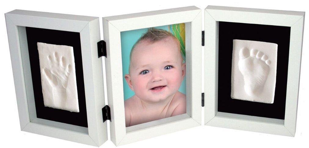Portafotos blanco mi primera huella triple KIDZZCAST MFA0701