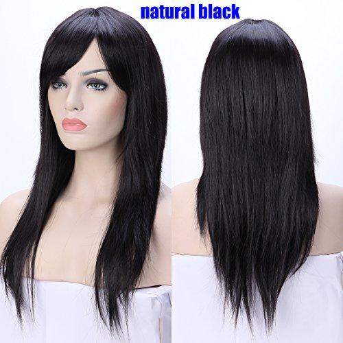 red and black split wig - 6