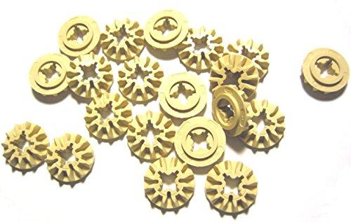 LEGO Technic Tan Gear 12 Dientes Dientes Mindstorms NXT - Lote de 20 piezas sueltas