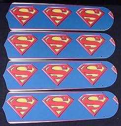 Ceiling Fan Designers 42SET-KIDS-SMS Superman Marvel Superhero 42 in. Ceiling Fan Blades Only