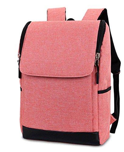 FZHLY El Viento De Corea Del Estilo Simple Bolsa De Hombro Universidad De La Manera Bolso De La Computadora,Gray-Large Pink-Large
