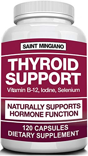 Thyroid Support, Iodine Supplement with Selenium -120 Capsules- Helps Optimal Weight & Cardiovascular Health, Boosts Energy & Metabolism - Feel Mentally Sharp & Physically Strong - 14 Natural Vitamins