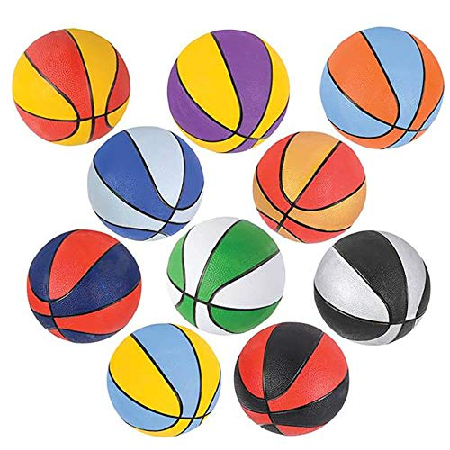 Assorted Mini Basketball Party Favors by Bottles N Bags (10 Pack) | 7