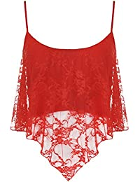 PaperMoon Women's Lace Camisole Crop Top