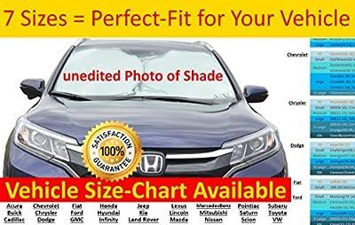 Car Windshield Sunshade 7SIZES Ultra-Premium 230T-NYLON SIZE-CHART-Available