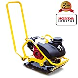 Tomahawk Power 5.5 HP Honda Vibratory Plate Compactor for Asphalt, Aggregate, Cohesive Soil Compaction with 3.5 Gallon Water Tank