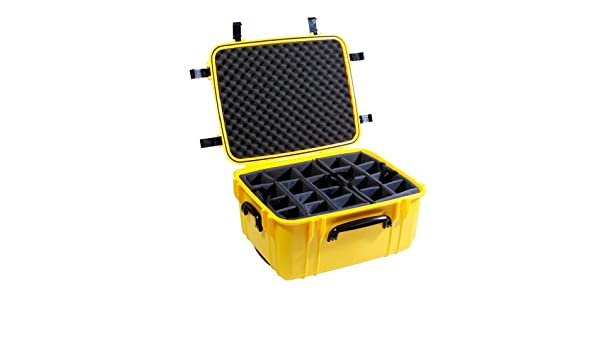 Seahorse SE-1220D Protective Wheeled Case With Adjustable Divider Tray SE1220DYL