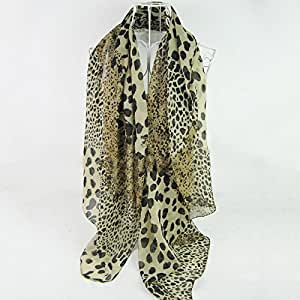 Fashion Sexy Woman Girl's Soft Leopard Printed Chiffon Scarf Long Shawl Wrap Pashmina