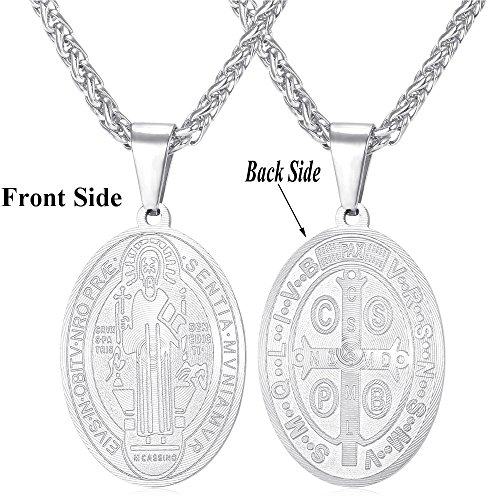Benedict Pendant Christian Stainless Necklace product image