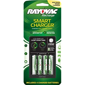 Amazon.com: Rayovac PS332-4B LCD Smart Charger with 4 AA