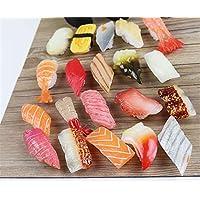 Skyseen 20PCS Artificial Sushi Sashimi Model Fake Food Realistic Japanese Food for Decoration
