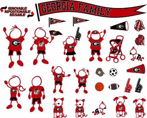 Bulldogs 12' Car Bulldog Georgia (NCAA Georgia Bulldogs Decal Family)