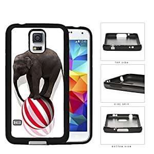 Circus Elephant Balancing On Ball Rubber Silicone TPU Cell Phone Case Samsung Galaxy S5 SM-G900