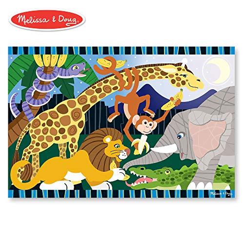 Melissa & Doug Safari Social Jumbo Jigsaw Floor Puzzle (24 pcs, 2 x 3 feet)