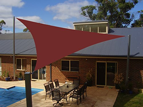 UPC 699908804584, Belle Dura Brick-red 16'x16'x16' Triangle Sun Shade Sails UV Block for Shelter Canopy Patio Garden Outdoor Facility and Activities
