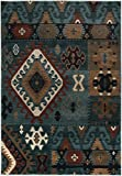 Rizzy Home BV3704 Bellevue Power-Loomed Area Rug, 5-Feet 3-Inch by 7-Feet 7-Inch, Southwest, Blue