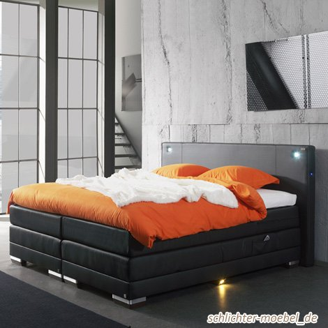 nixon inkl motor boxspringbett hotelbett amerikanisches bett designbett 180x200 rot g nstig. Black Bedroom Furniture Sets. Home Design Ideas