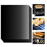 #9: ETECKTOP BBQ Grill Mat(Set of 3),The Oven Mat,Non-Stick Grill Mats,Reusable,Easy to Clean,High Temperature Resistant,FDA-Approved,PFOA Free-13 x 15.7 Inch (black)