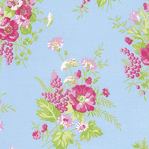 (Tanya Whelan PWTW125 Sadie's Dance Card Wild Flower Cotton Quilting Fabric by Yd)
