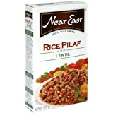 Near East Lentil Rice Pilaf Mix, 6.75-Ounce Boxes (Pack of 12)