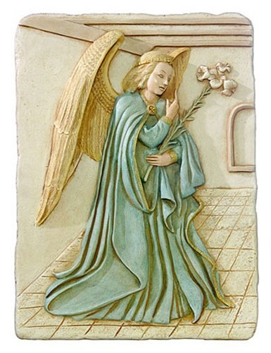 (The Museum Store Archangel Gabriel Annunciation Wall Relief from Ghent Cathedral, Color)