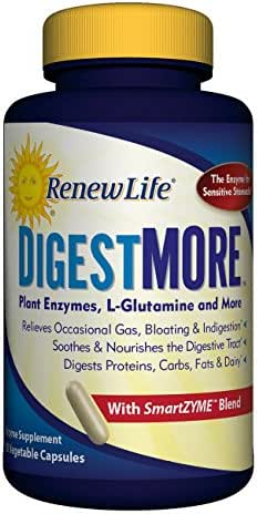 Renew Life Adult Digestive Enzyme - DigestMore SmartZyme Enzyme Supplement - 90 Vegetarian Capsules