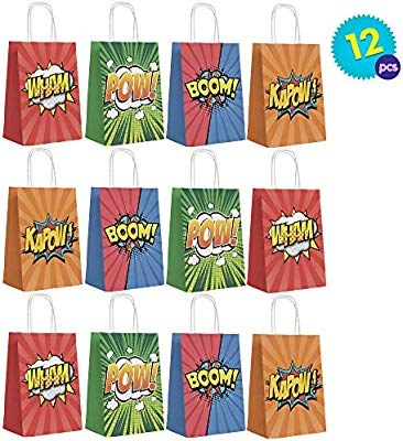 12pcs Bolsas Regalo De Superhéroes - Party Favor Bags Superhéro Para Bolsa Para Chuche, Frutos Secos, Caramelos, Chocolate, Piñata, Regalo Fiestas ...