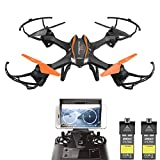 Drone With Camera - DBPOWER UDI U842 Predator WiFi FPV Drone with HD Camera 2.4G 4CH 6 Axis Gyro RTF Low Voltage Alarm, Gravity Induction and Headless Mode Includes Bonus Battery