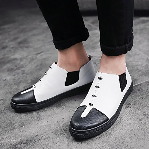 No.66 Town Mens Driving Slip-on Flats Loafers Casual Boat Shoes #1 White 4htV3RTFX