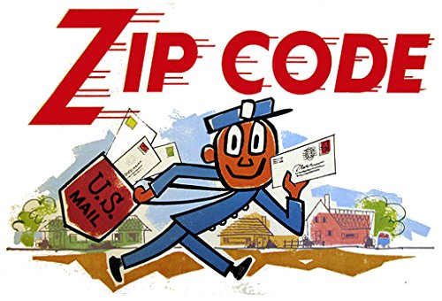 Mr  Zip Code 2  X 3  Fridge Magnet Art Vintage Inspired Refrigerator Nostalgic Retro