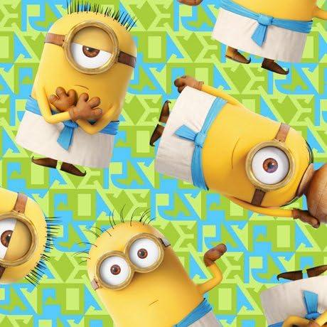 Minions Egyptian Minion Toss Universal Studios Cotton Fabric Remnant