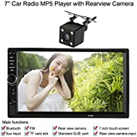 Docooler® Universal HD 7 inch Touch Screen 2 Din HD Bluetooth Car Stereo FM Radio MP5 Player USB/TF Aux Input with Rear View Camera