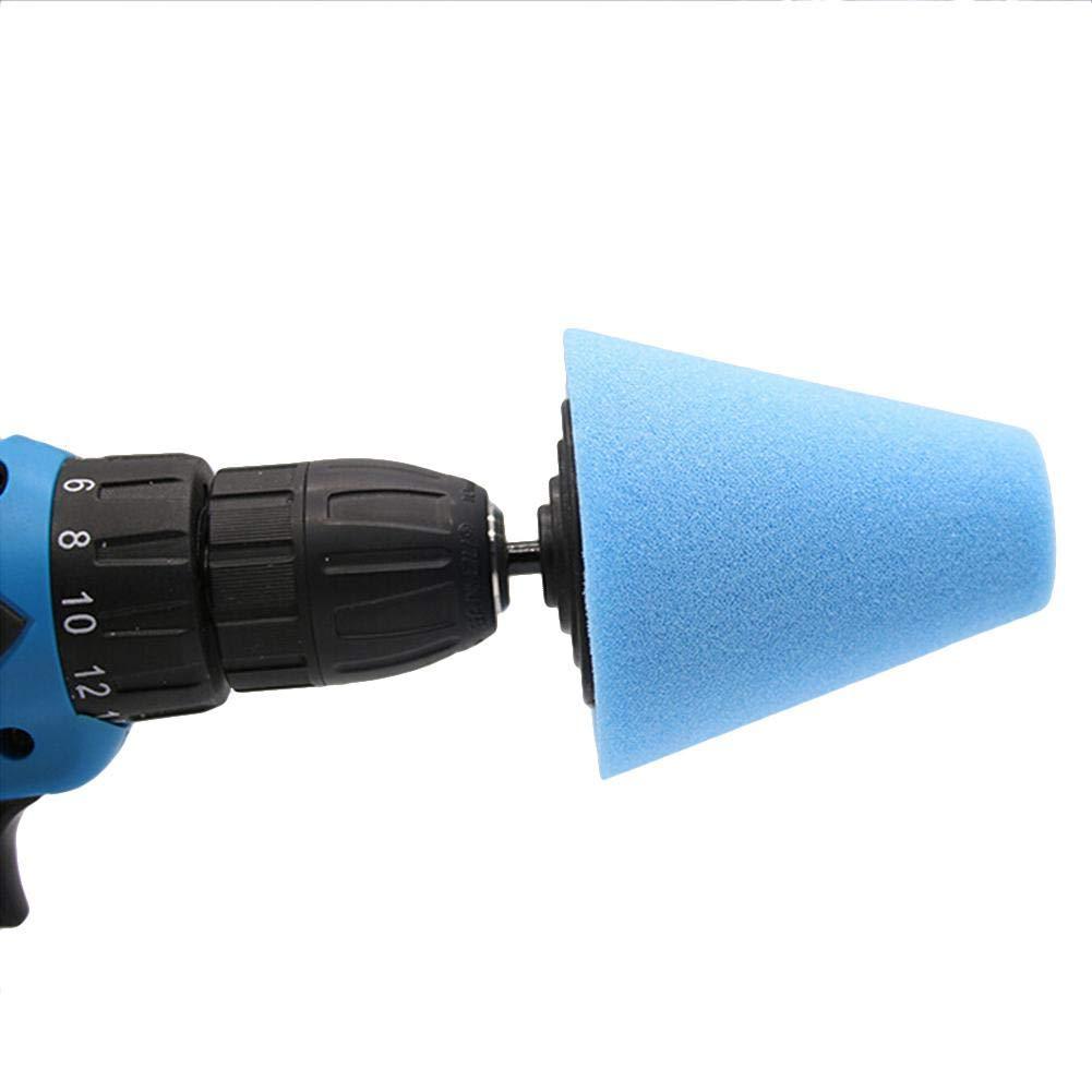 Prom-note Foam Polishing Cone Shaped Polishing Pads,Polishing WheelBuffing Wheel Pad Mop Kit Conical//Column//Mushroom//Wheel Shaped Polishing Tool Buff Polishing Mop For Wheels