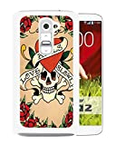 LG G2 Case,Ed Hardy 11 White Case for LG G2,Hot Sale Cover