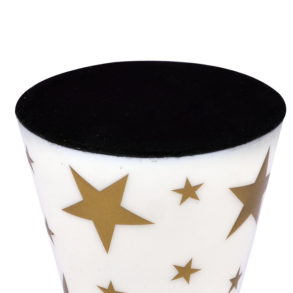 Pillar Candle Holder Kosma Handmade Aluminium Candle Holder Candle Stand in a Vibrant White Enamel Finish /& Golden Colour Star Design Tealight Holder Home Decorative Handicraft