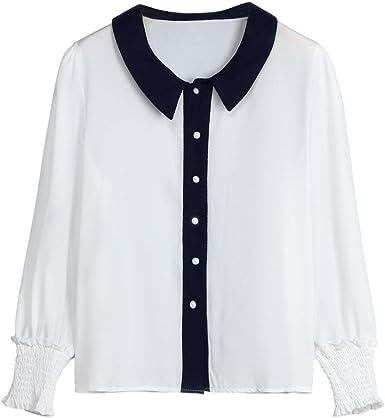 FAMILIZO Camisa Mujer Manga Larga, Camisetas Escote Mujer Camisetas Mujer Verano Blusa Mujer Elegante Camiseta Mujer Manga Larga Camisetas Mujer Fiesta Camisetas Gasa Mujer: Amazon.es: Ropa y accesorios