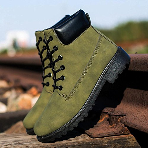 Esercito Caldo Fur Uomini Boots verde Inverno Stivaletti Autunno Tefamore Martin Lined PzBwYZPq