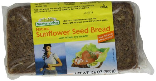 Mestemacher Bread Sunflower Seed, 17.6-Ounce (Pack of 6) - Mestemacher Sunflower Seed Bread